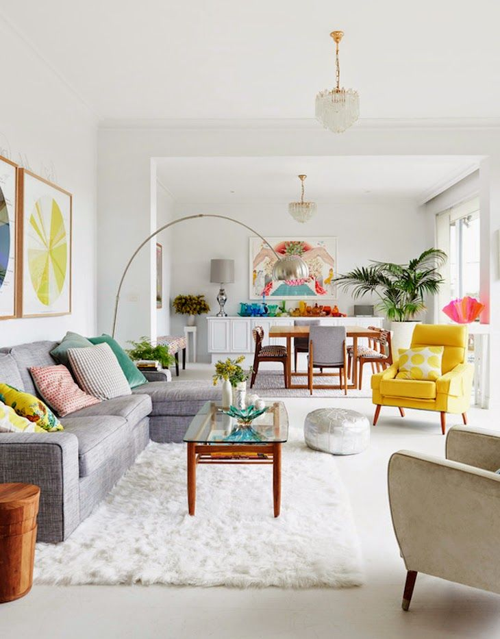 I Would Love This Color Scheme For A Baby Room! Colorful Happy Living And  Dining Room Open Space   Madeleine And Jeremy Grummet And Family From The  Design ... Part 83