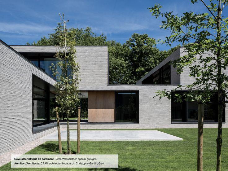 Gevelsteen/Brique de parement Terca Wasserstrich special grijs/gris (CAAN Architecten, Gent)