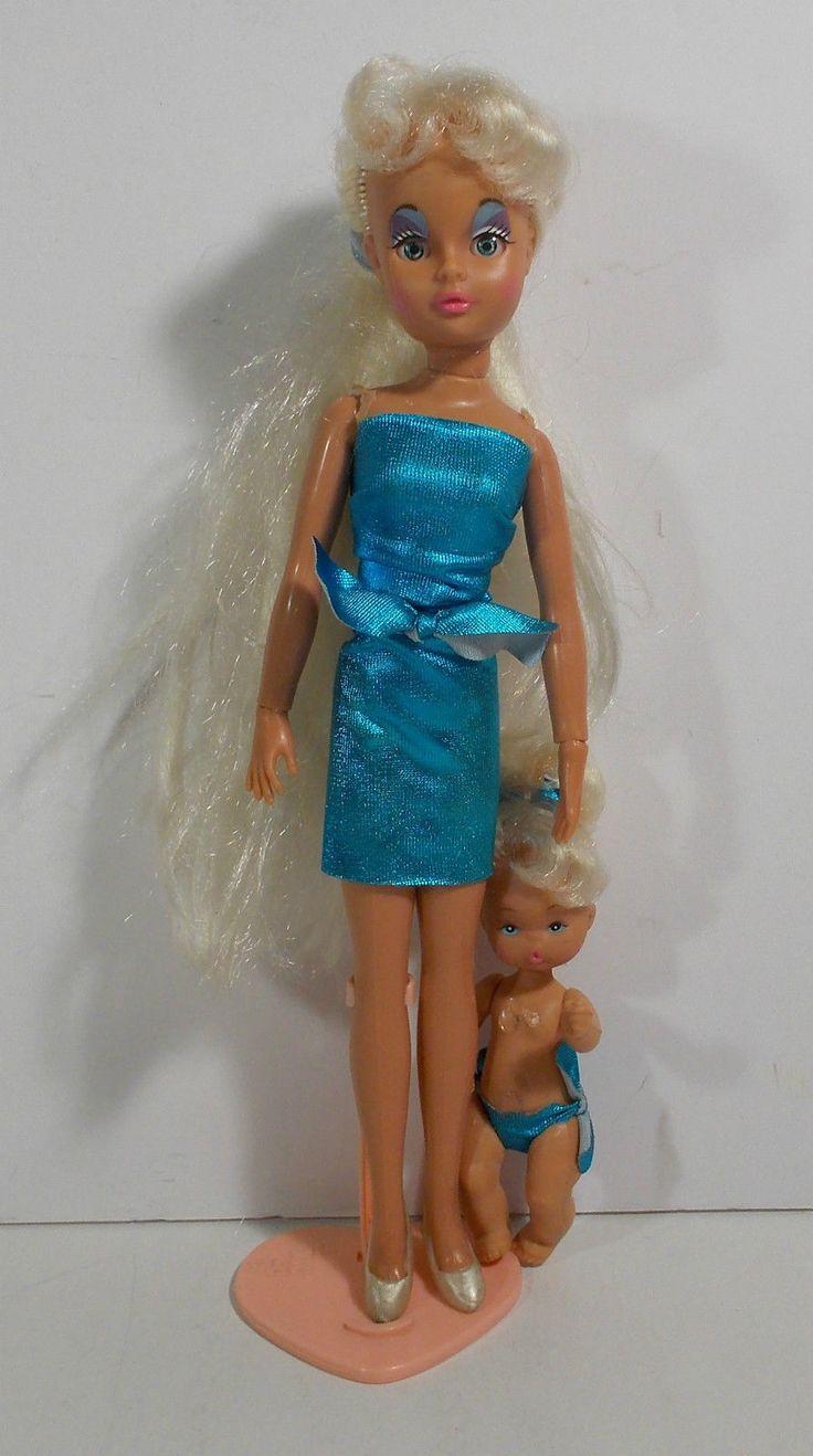 VTG EL GRECO BIBI-BO BIBI BO 80s DOLL BLUE WITH GIRL