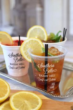 Serve up southern sweet tea, mint juleps, and cocktails in these 12 oz solo cups.  Perfect for a country western or southern belle adult birthday party. Whether it's your 21st, 30th, 40th, 50th, or beyond.  These versatile cups are the perfect size for any cocktail and can be tossed come clean-up time.  To order, visit http://www.tippytoad.com/12-oz-custom-printed-solo-cups.asp