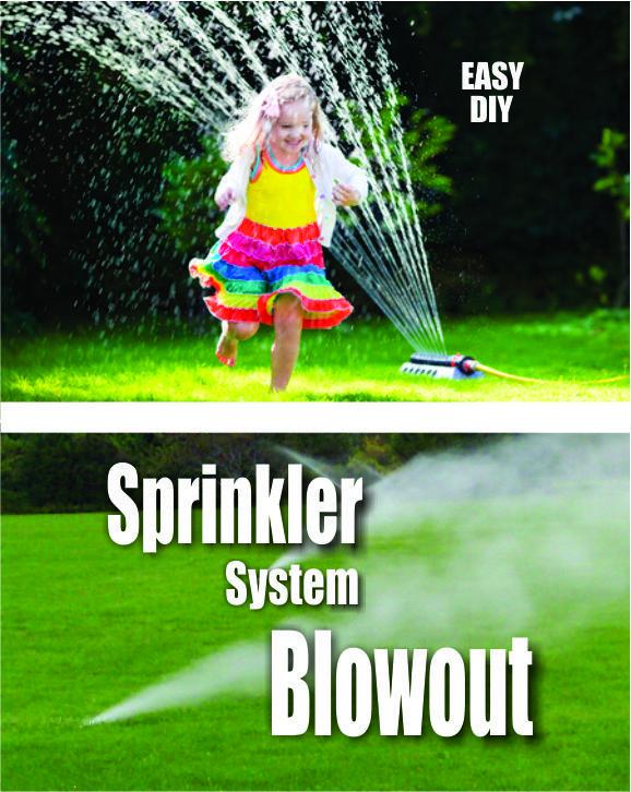 Easy DIY Sprinkler System Blowout Winterization. FREE step by step instructions. www.DIYeasycrafts.com