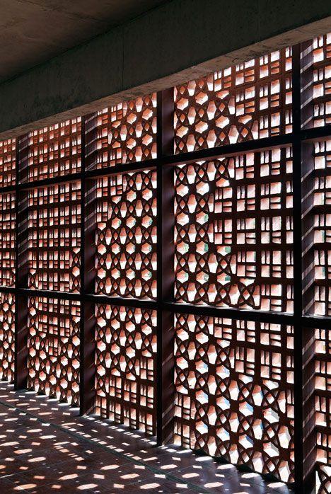 DPS Kindergarten by Khosla Associates   patterned concrete facade