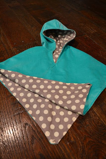 Reversible Poncho / Cape Tutorial cute for kayla or babies