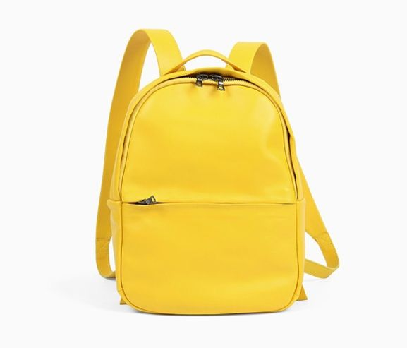 ISAAC REINA - Small student leather backpack. Made in France.