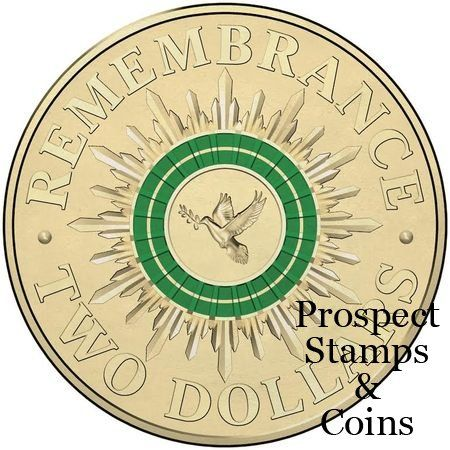 2014 Remembrance Day Two Dollar ($2) Colour-printed Uncirculated Australian Decimal Coin