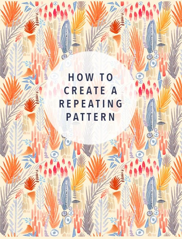 How to create a repeating pattern. Great for Spoonflower fabric making.