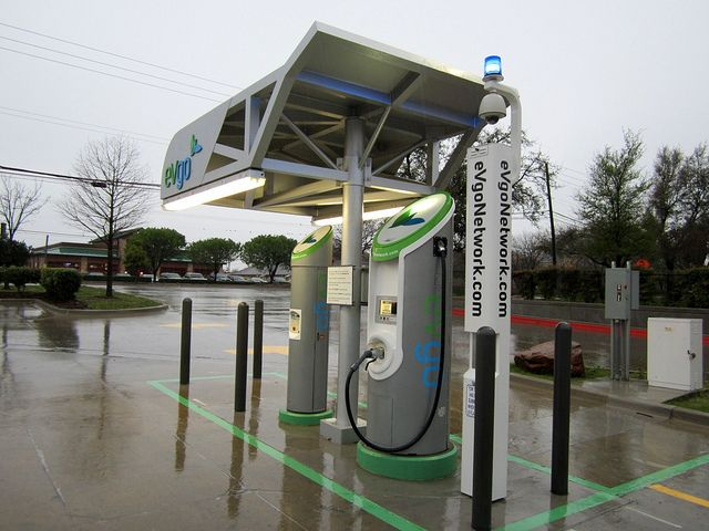 eVgo electric car charging station, Dallas, TX