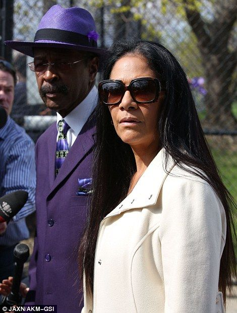 Prince memorial. Sheila E and Larry Graham...