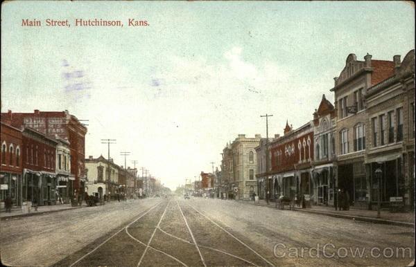 Main Street Hutchinson, KS Dated 1910