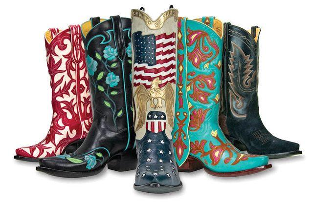 Back at the Ranch Custom Cowboy Boots - Celeb Cowboy Boots Santa Fe