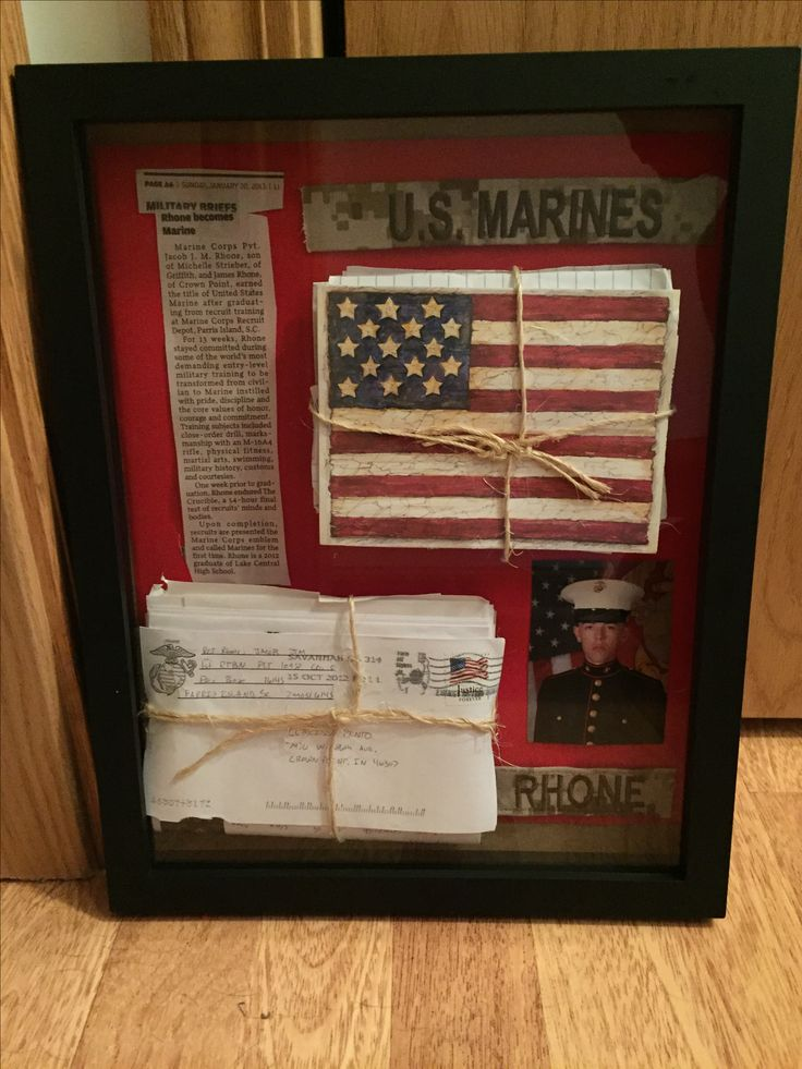 Bootcamp letters #bootcamp #military #usmc #Marine #militarycouple #shadowbox