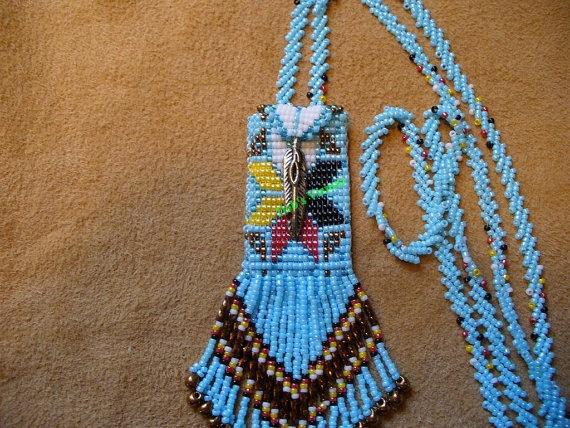 Tiny Four Directions amulet bag