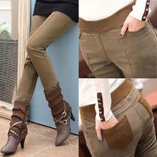 Plus Size S-4XL Women Pencil Pants high waist Skinny Black Thick Velvet Warm Winter Leggings Jeggings Legins Feminina Trousers(China)