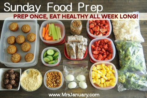 Prep Once, Eat Healthy All Week Long via MrsJanuary.com - Looking for ways to get more healthful eating into your life? Start prepping your food for the week. This blogger shares how they eat much healthier by doing this.
