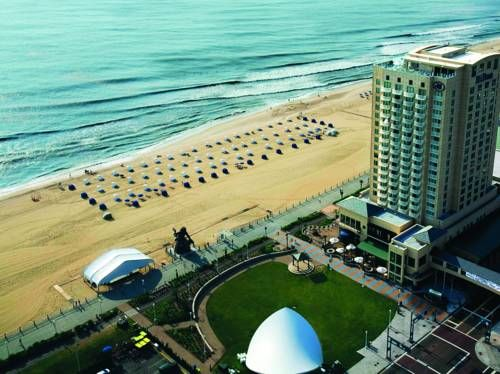 Hilton Virginia Beach Oceanfront (3001 Atlantic Avenue) Boasting an unrivaled oceanfront location, complete with stunning views of Virginia Beach, this hotel features on-site dining options and guestrooms featuring flat-screen TVs and on-demand movies. #bestworldhotels #hotel #hotels #travel #us #virginia