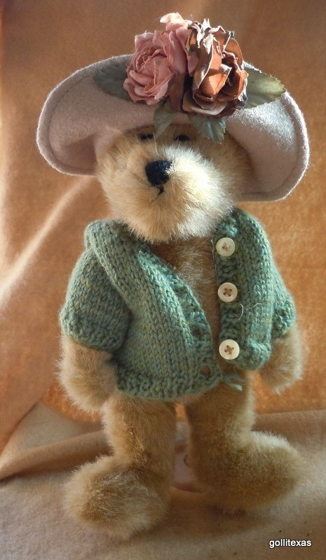 "Boyds Bears Girl with Hand Knit Sweater and Hat 10"" Retired ~ Love the hat!!!"