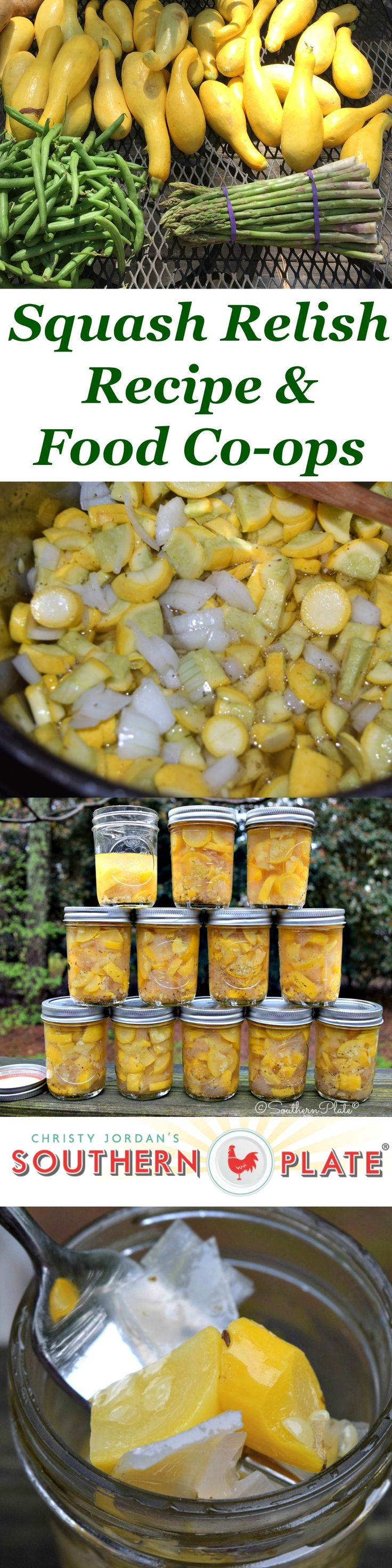 How to make Squash Relish and How To Join a Food Co-op Near You! ~ http://www.southernplate.com