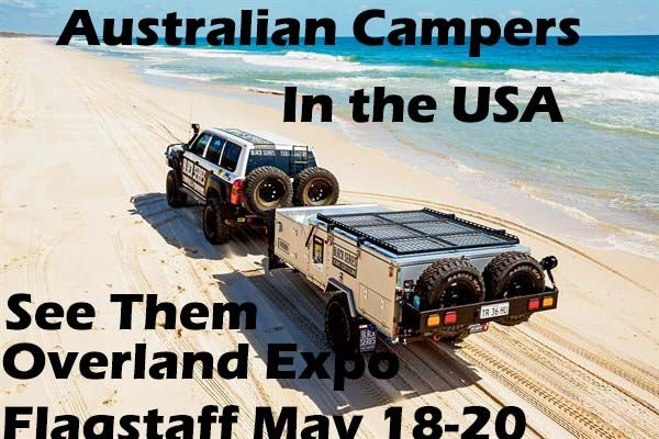 Award winning Australian campers will be on display at the Overland Expo in Flagstaff May 18-20