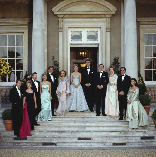 The Greek Royal Family At Wrotham Park In Hertfordshire Prior To A Dinner Dance Celebrate Wedding Of Prince Pavlos Greece Marie Chantal