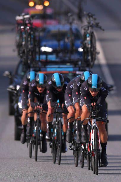 90th Road World Championships 2017 / TTT Men Elite Team Sky / Owain DOULL / Christopher FROOME / Vasil KIRYIENKA / Michal KWIATKOWSKI / Gianni MOSCON...