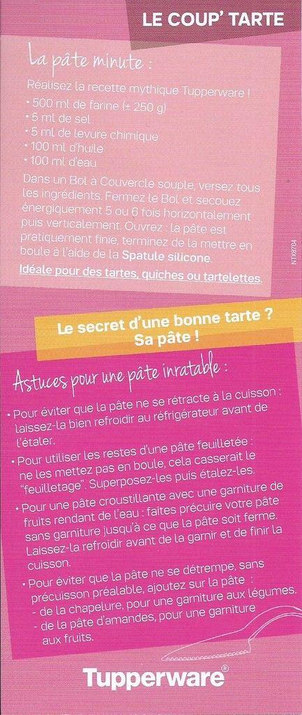 """Fiche astuces """"Coup' tarte"""" Mai 2015"""