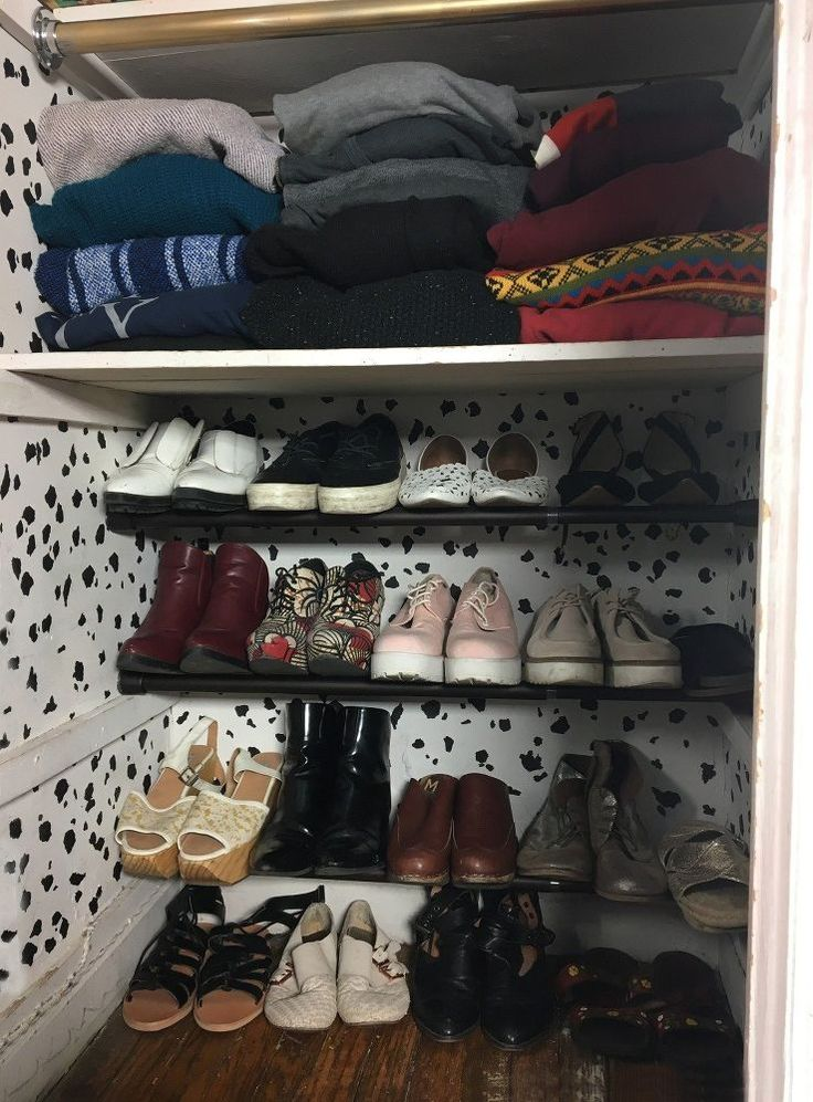 Hang 3 Tension Rods in Your Closet (Genius!)