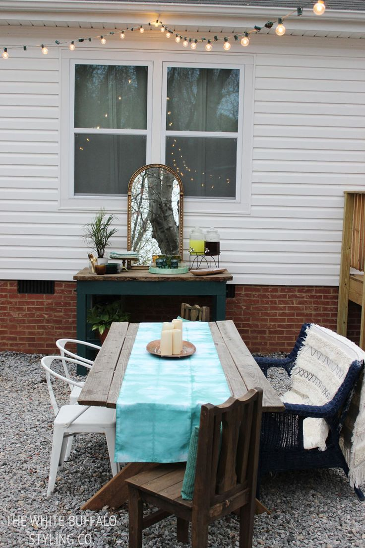 Outdoor dining ideas #outdoordining #outdoorentertaining #outdoorliving #patio
