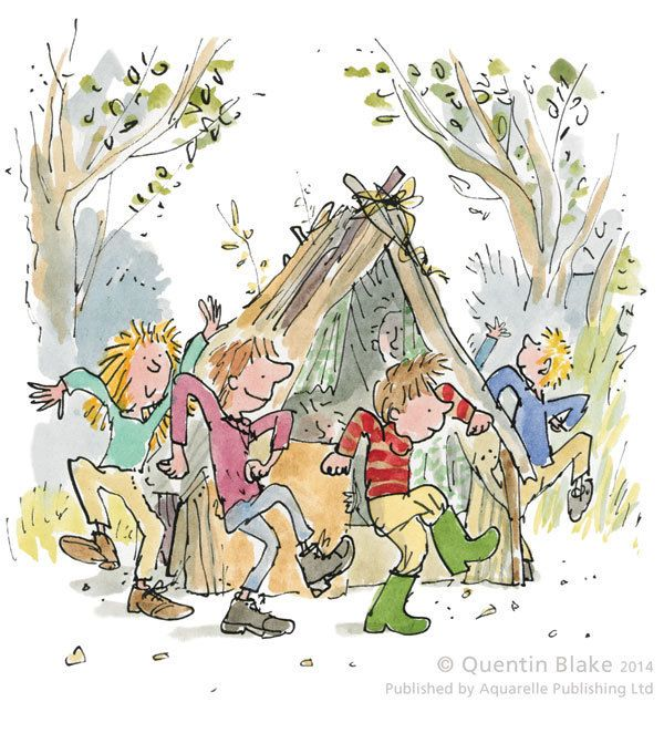 Round And Round The Den Signed Art Print By Quentin Blake Arthous