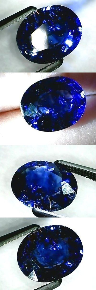 Natural Sapphires 4644: 1.85 Ct Oval Sapphire, Intense Royal Blue, Earth Mined-Chanthaburi, Heat Only BUY IT NOW ONLY: $229.0