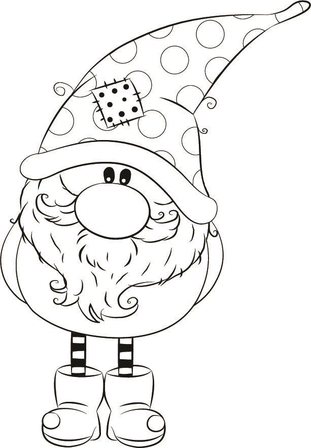 125502 thomas winter gnome  weihnachtsmalvorlagen
