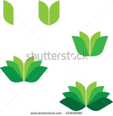 Abstract Flower/Abstract Leaf/Leaf shape/Leaf icon