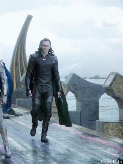 Loki In Thor: Ragnarok (https://www.youtube.com/watch?v=ue80QwXMRHg&feature=youtu.be ) Gif by Torrilla