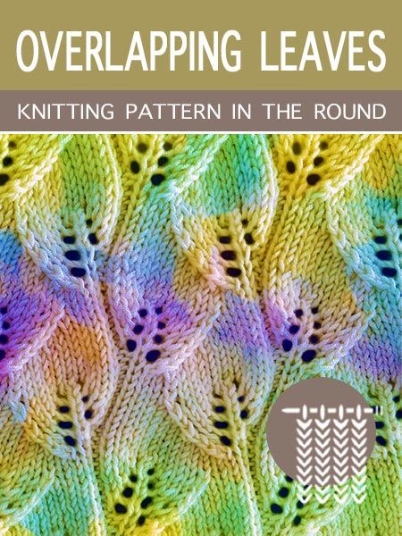Scrap Yarn With White And A Mysterious Knitting Stitch -
