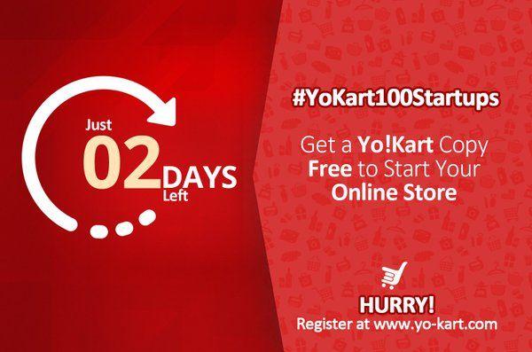 """YoKart on Twitter: """"Now or never for #entrepreneurs having dream to open own #eCommerceStore. Hurry up & register at #YoKart100Startups https://t.co/yQYGWs8R5O"""""""