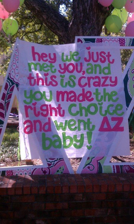 These letters and this wonderful poster look oh so familiar. <3 my DZ Omicron Alpha chapter. :)
