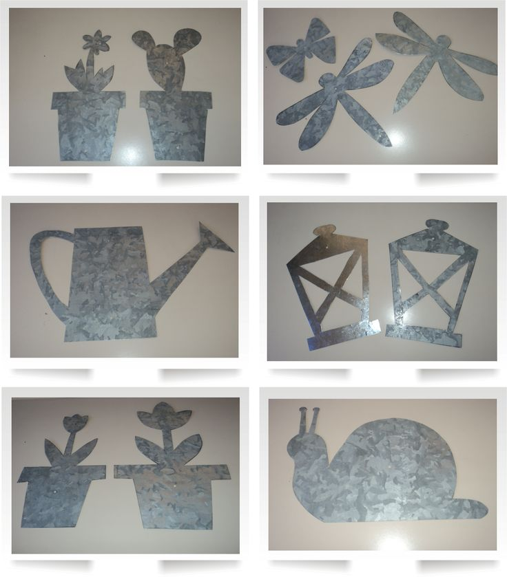 Tutorial Siluetas de elementos de jardín recortados en chapa. Adornos de pared.de Artesanías