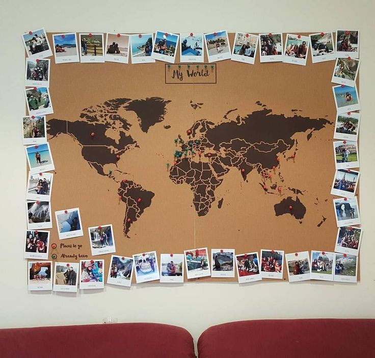 Best 25 world map decor ideas on pinterest world map wall make sure there is always a new place in the world you want to discover a nice decoration idea by gumiabroncs Choice Image