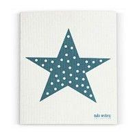 Vaatdoek 'Turkoois blauwe ster' - Malin Westberg