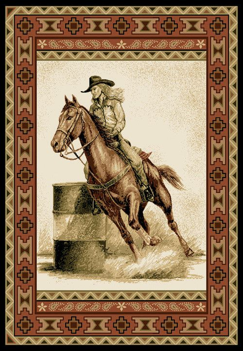 Eqi S Barrel Racer Rug It S The Just The Right Accent To Complete The Western Feel