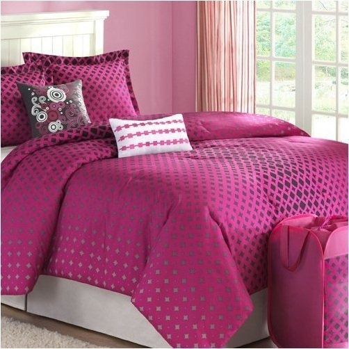 8 best black and pink bedding images on pinterest for Hot pink bedroom set