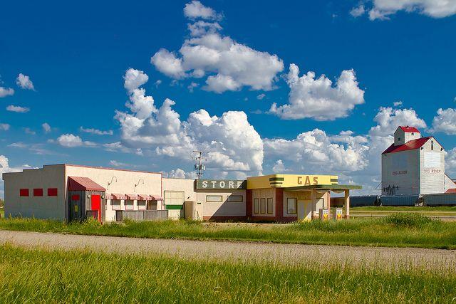 Corner Gas, Dog River, Saskatchewan, Canada by Christopher Brian's Photography, via Flickr (= Rouleau Saskatchewan - when I was a boy)