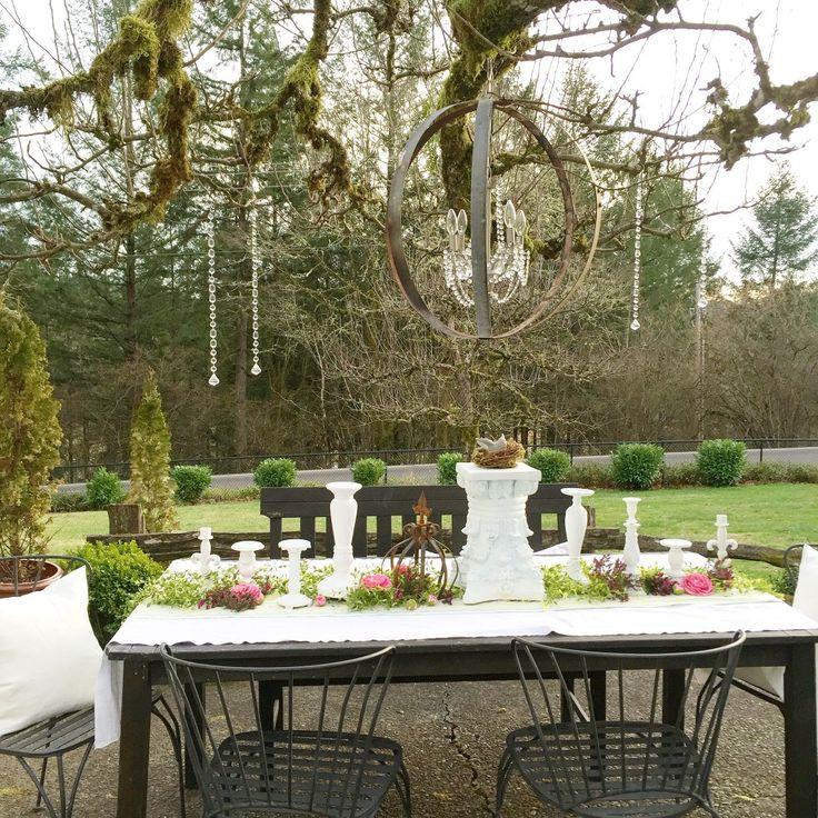 Create a vintage outdoor garden party decoration ideas for Backyard party decoration