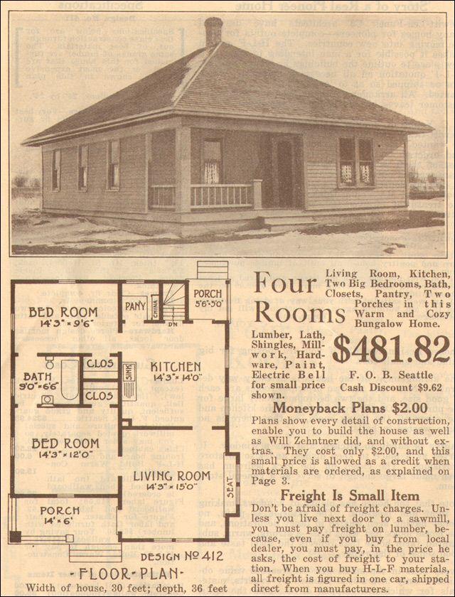Love The Article 1915 Hewitt Lea Funck Bungalow Design No