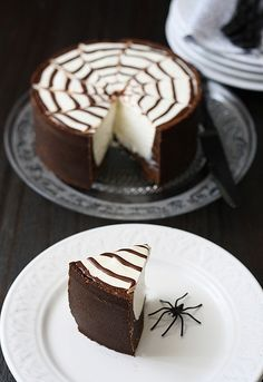 Tarta de queso Philadelphia y chocolate para Halloween by SandeeA Cocina, via Flickr