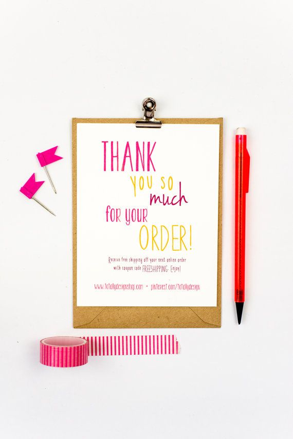 23 best business thank you cards images on pinterest business business thank you cards instant download happily handwritten accmission Images