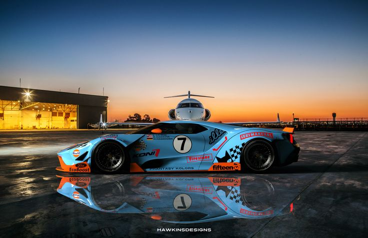 ArtStation - Gulf Racing Ford GT, Ryan Hawkins