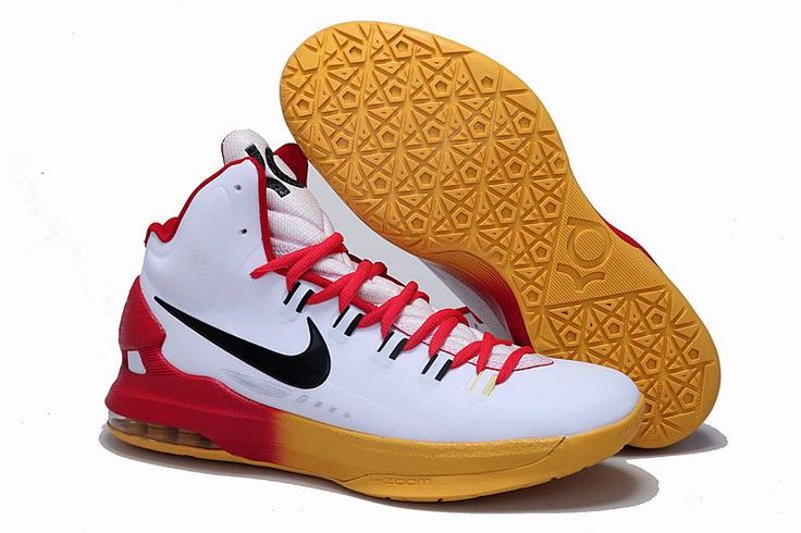 f2ec3b42cb0f Nike Zoom KD V 5 White Red Yellow Gradient Shoes