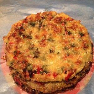 Торт из кабачков с фаршем