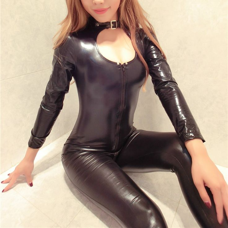 Cheap skeleton bodysuit costume, Buy Quality bodysuit costume directly from China skeleton leotard Suppliers: 2017 New Sexy Zipper Womens Faux Leather Jumpsuit Erotic Slim PVC Catsuit Leotard Skeleton Bodysuit Costume Club Wear Outfits