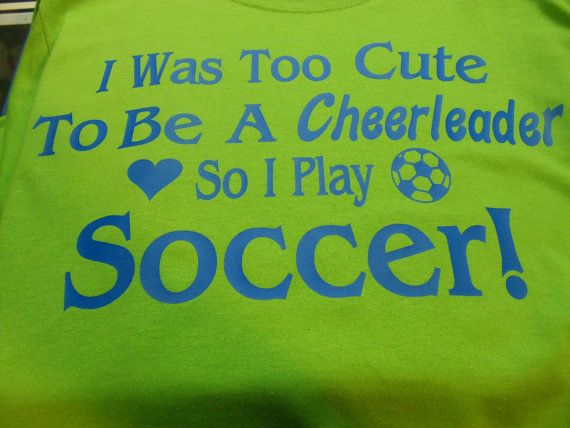 I think its cute but my little girl decide after one season to not play soccer.